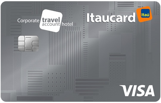 cartão itaucard corporate travel account hotel visa